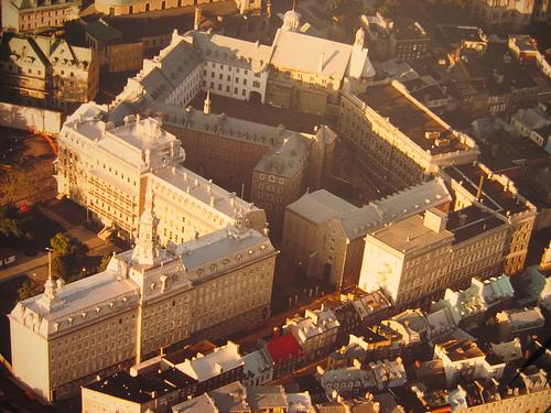 Vue aérienne du site du Séminaire de Québec en 2007